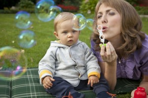 speech therapy activities blowing bubbles
