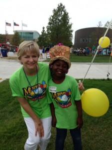 Anne Bramlett and helper at Murphy Maize Days