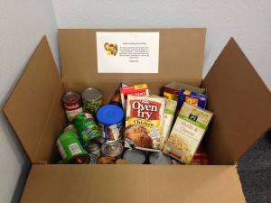 Food Pantry Donations collected at Speech & OT
