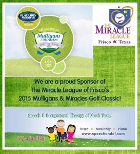 Sponsor Miracle League Golf Tournament April 2015